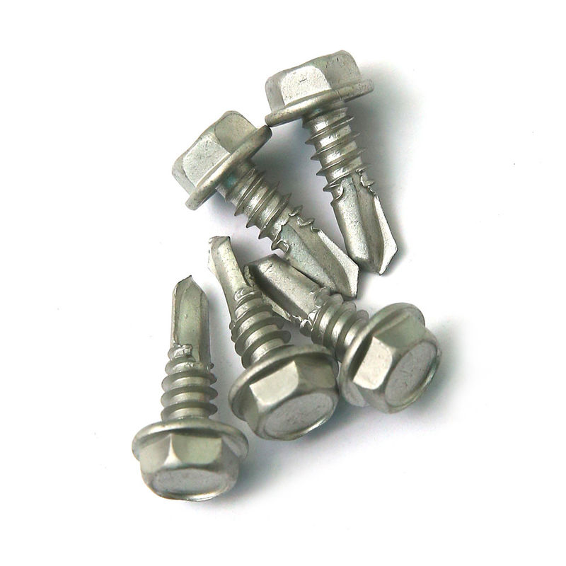 1500 Hrs' Salt Spray Test SS 410 Hex Self Drilling Screws Into Steel Environmental Protection Coating