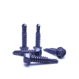 AS3566 Metric Hex Washer Knurled Serration Head Self Fastening Drilling Screws AISI 410 Stainless