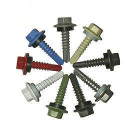 Color Coated Magni Coating SS410 Self Drilling Metal Screws Hex Head With Epdm Washer